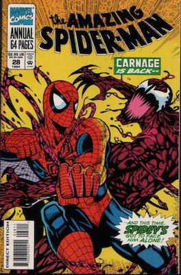 Amazing Spider-Man Annual #28: Carnage Marvel comics. Click for values