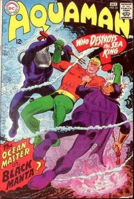 Origin and First Appearance, Black Manta, Aquaman #35, DC Comics, 1967. Click for value