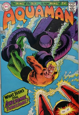 Origin and First Appearance, Awesome Threesome, Aquaman #36, DC Comics, 1967. Click for value