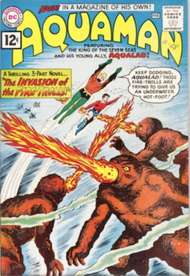 Origin and First Appearance, Qwsp, Aquaman #1, DC Comics, 1962. Click for value