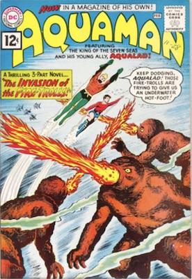 Origin and First Appearance, Qwsp, Aquaman #1, DC Comics, 1962. Click for value