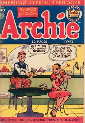 Archie Comics #48: Classic Innuendo Spoon cover. Click for values
