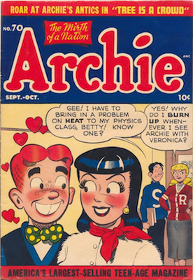 Archie Comics #70. Click for current values.
