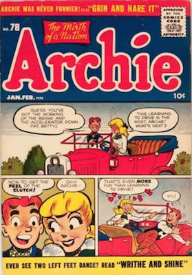 Archie Comics #78: Classic Innuendo Clutch cover. Click for value