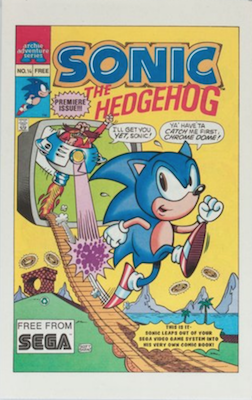 Archie Comics Sonic the Hedgehog First Sonic in comics; giveaway with NES game