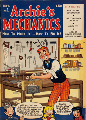 Archie's Mechanics #1 (1954). Click for values