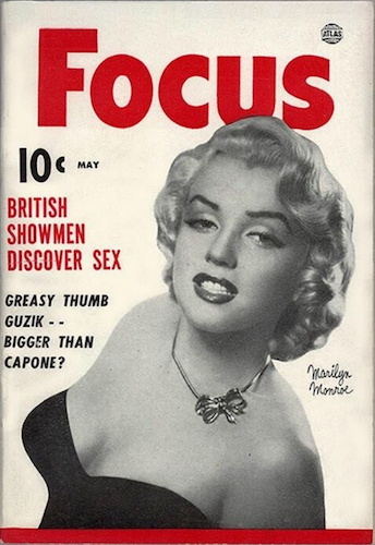 Focus v3 #5: Marilyn Monroe cover, rare! Only two copies in the CGC census. Click for values