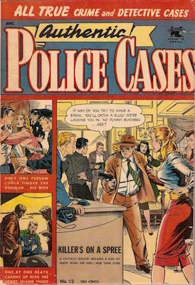Authentic Police Cases #32: Matt Baker cover art. Click for values