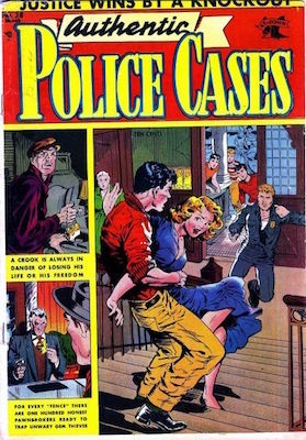Authentic Police Cases #38. Matt Baker cover art. Click for values