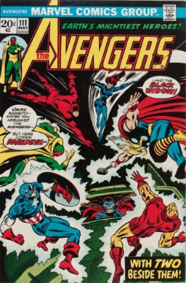 The Avengers #111 (May 1973): The Widow Finally Becomes an Avenger. Click for values