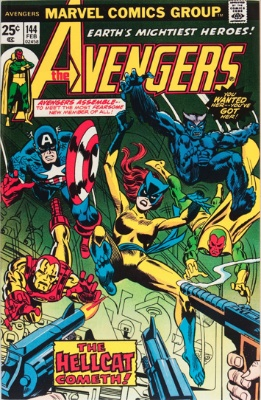 Avengers #144: 1st Hellcat. On our Hot 100 series list. Click for values