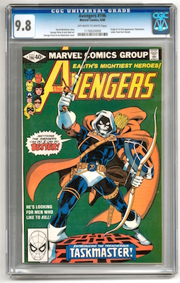 For a relatively common modern book (published in 1980) like Avengers #196, stick to CGC graded 9.8 or 9.6 copies with white pages.