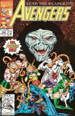 Origin and First Appearance, Lloigoroth, Avengers #352, Marvel Comics, 1992. Click to see value