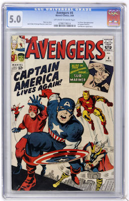 You'll need to choose your Avengers #4 with care. A CGC 5.0 can either present very well, or be a bit rough. Click to invest in a copy
