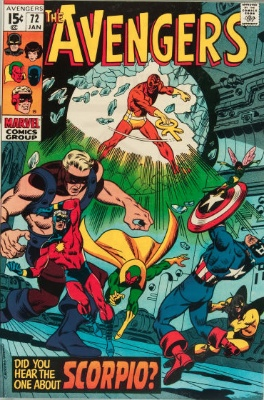 Origin and First Appearance, Aries, Avengers #72, Marvel Comics, 1970. Click for value