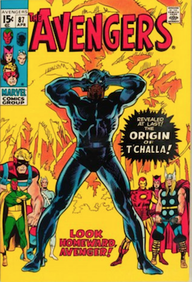 Avengers Comics #87: Origin of Black Panther (T'Challa). Click for values