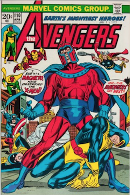Avengers #110: X-Men and Magneto Crossover. Click for values