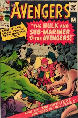 Avengers comic #3: Sub-Mariner and Hulk fight the Avengers, Spider-Man cameo