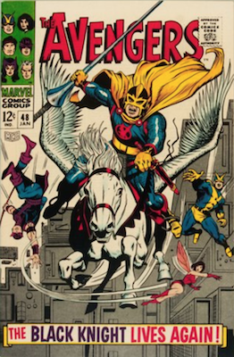 Avengers #48 is the first appearance of Dane Whitman as the Black Knight. Click to buy
