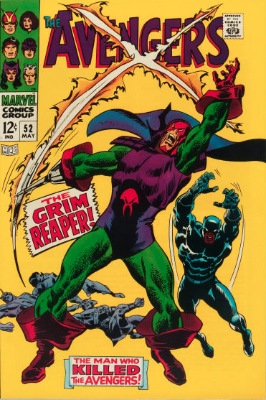 Origin and First Appearance, Grim Reaper (Silver Age), Avengers #52, Marvel Comics, 1968. Click for value