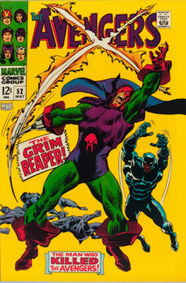 Avengers #52 (Marvel, 1968): Black Panther Joins the Avengers; First Appearance of Grim Reaper. Click for values