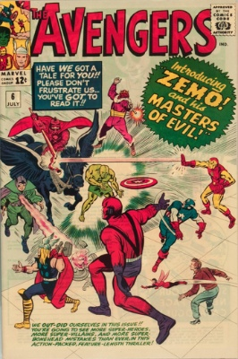 Avengers #6: 1st Appearance of Baron Zemo and his Masters of Evil. Click for values