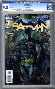 Batman #1 New 52: variant cover. Click to buy