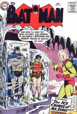 Origin and First Appearance, Mr. Freeze (originally Mr. Zero), Batman #121, DC Comics, 1959. Click for value