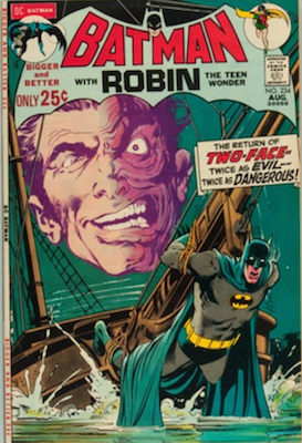 Batman #234, 1st Silver Age Two-Face. Click for values