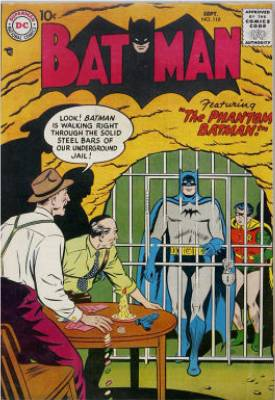 Batman Issue #110 sees Batman become ghost-like. Click for values