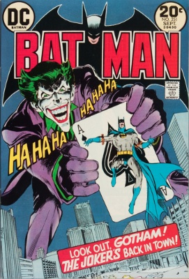 Batman Comics #251, classic Joker cover by Neal Adams