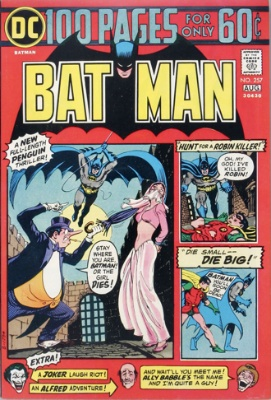 Batman vs Penguin in Batman Comic #257, August, 1974. Click for value