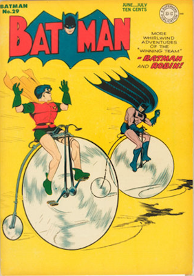 Batman #29, June 1945. Bat Penny Farthing. Click for value