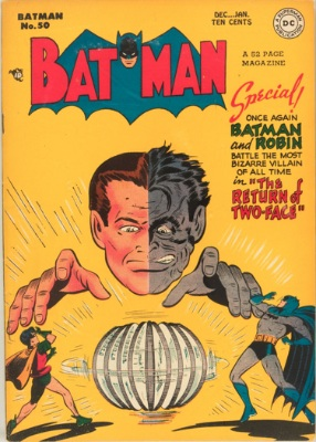 Batman Comic #50, return of Two-Face. Click for value