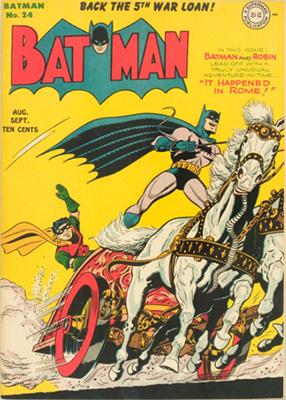 Batman Comic #24, Rome theme cover story. Click for value