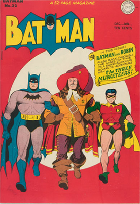 Batman #32, another historical theme cover. Click for value