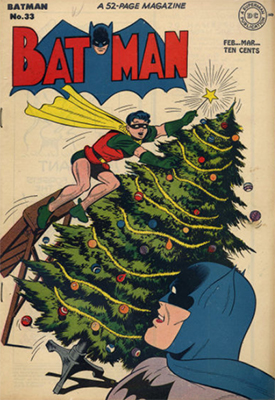 Batman #33, another Christmas issue. Click for value