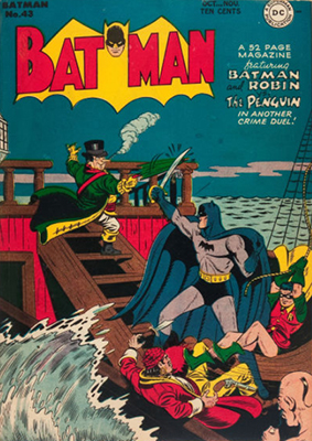 Batman #43 (1947): Pirate Penguin Cover. Click for values