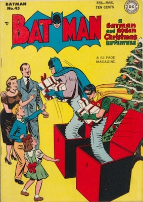 Batman #45, another Christmas cover. Click for value