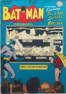 Batman #48, August 1948; Batcave Explored. Click for value