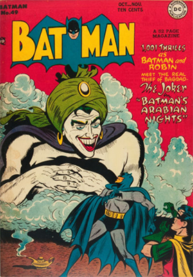 Batman #49, October 1948; First Appearance, Mad Hatter; First Appearance, Vicki Vale. Click for value