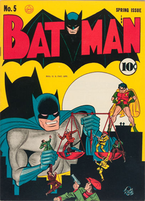 Batman #5 (Spring 1941): 1st Batmobile. Click for values