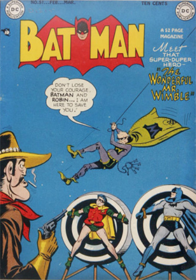 Batman Comic #51, another classic comedic cover. Click for value