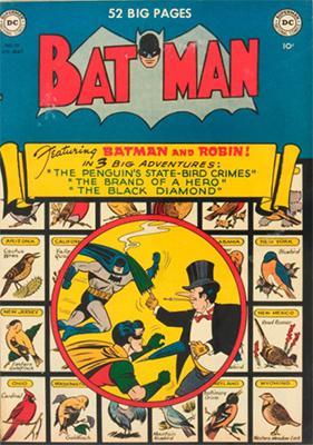 Batman #58, classic Penguin cover. Click for value
