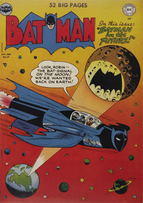 Batman #59, June 1950; First Appearance, Deadshot, and another sci-fi issue. Click for value