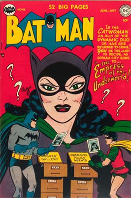 Batman #65, Classic Catwoman Cover. Click for value