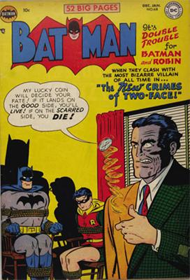 Batman #68, Harvey Dent, aka Two-Face. Click for value