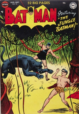 Batman #72, inspired by Tarzan. Click for value