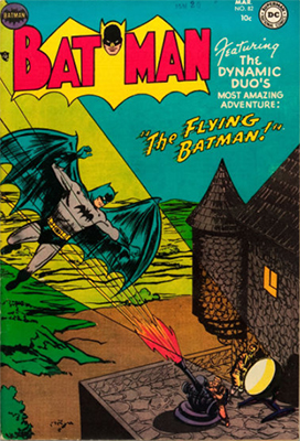 Batman #82, the Flying Batman. Click for value