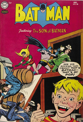 Batman #88, December 1954, the Son of Batman. Click for value